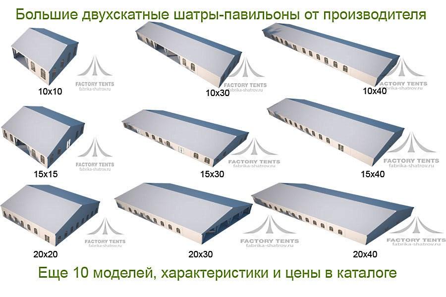 Большие шатры-павильоны от производителя