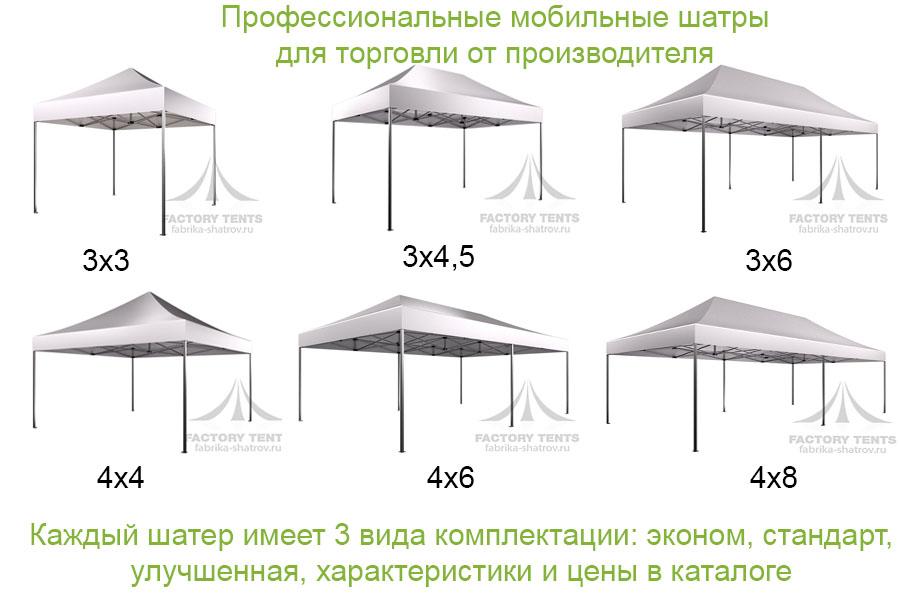 Мобильные шатры для торговли, от производителя