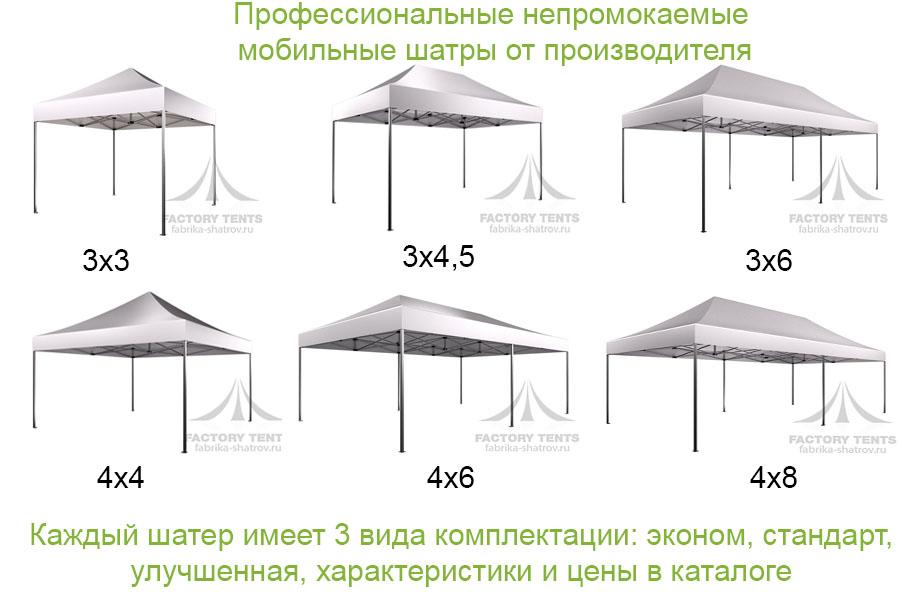 Непромокаемые мобильные шатры от производителя