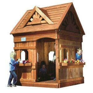 Детский квадратный деревянный домик компании Rainbow, США