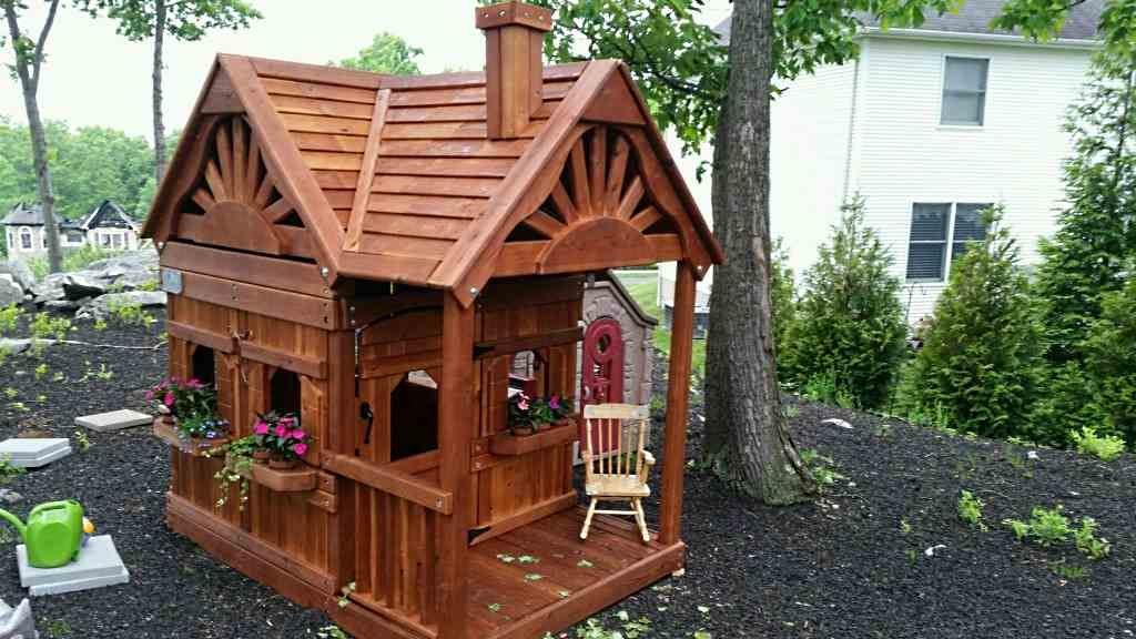 Прямоугольный деревянный детский домик компании Rainbow, США