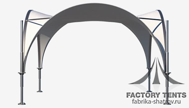 арочный шатер 5*5 компании Factory Tents