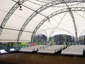 Арочный шатер Expotent Дюна 8Х8М для мероприятий в парке