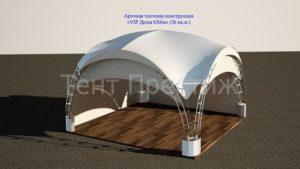 Арочный шатер Тент Престиж VIP ДЮНА 6Х6М