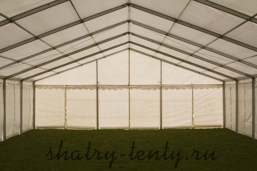 Большой шатер для дачи вид внутри