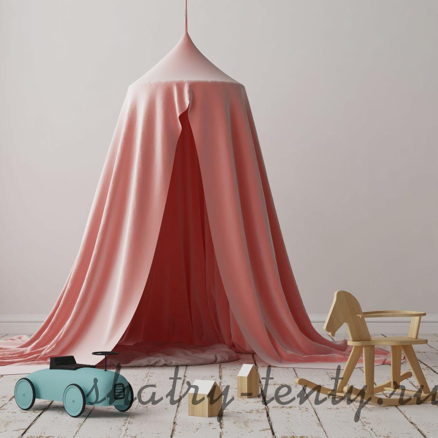 детская подвесная палатка из натурального текстиля