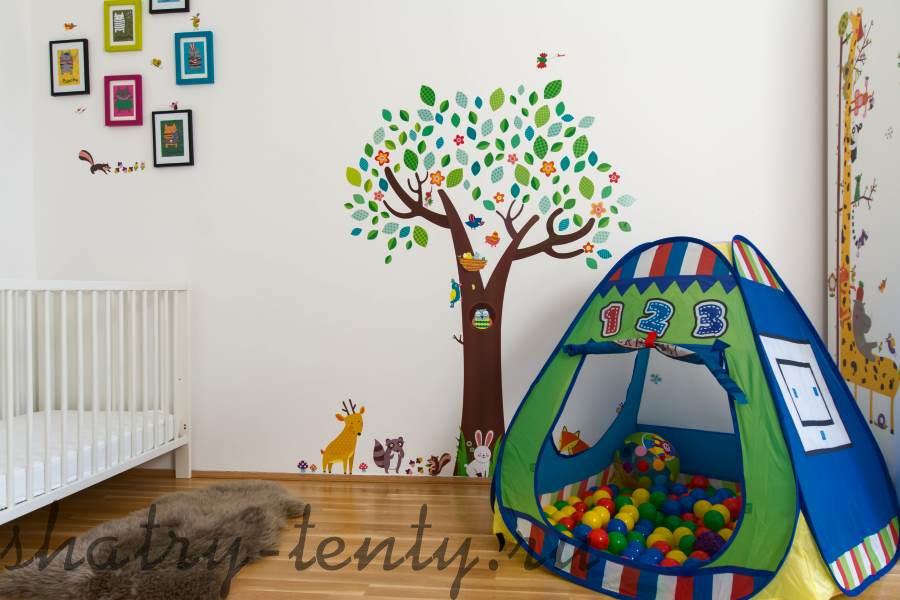 детская палатка-шатер на каркасе