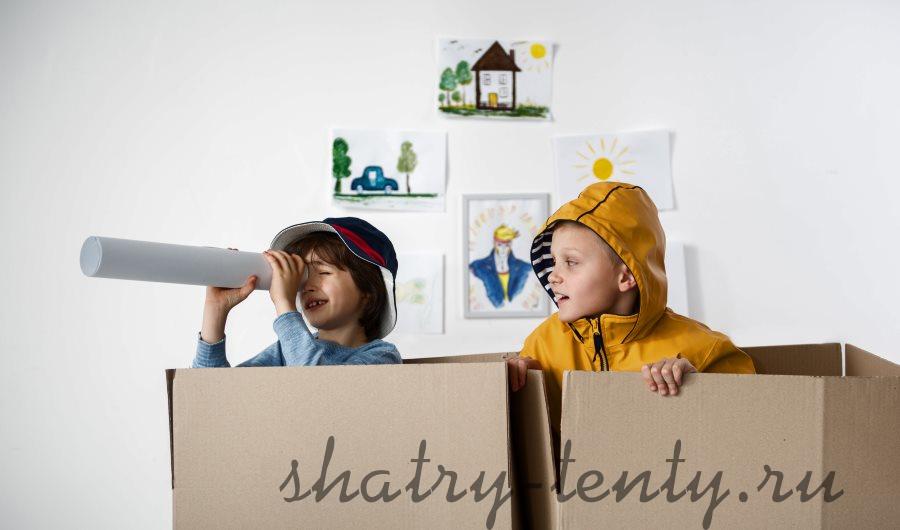 Детский картонный домик