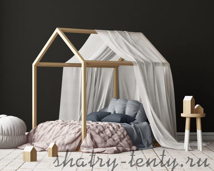 детский шатер кровать из натуральной ткани
