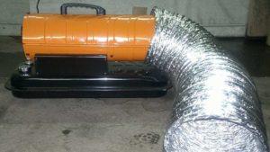 дизельная тепловая пушка с вентилятором