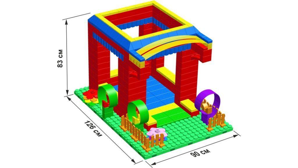 детский дом из конструктора типа Лего