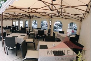 кафе в мобильном шатре prof 3*6 компании Mobile Tent