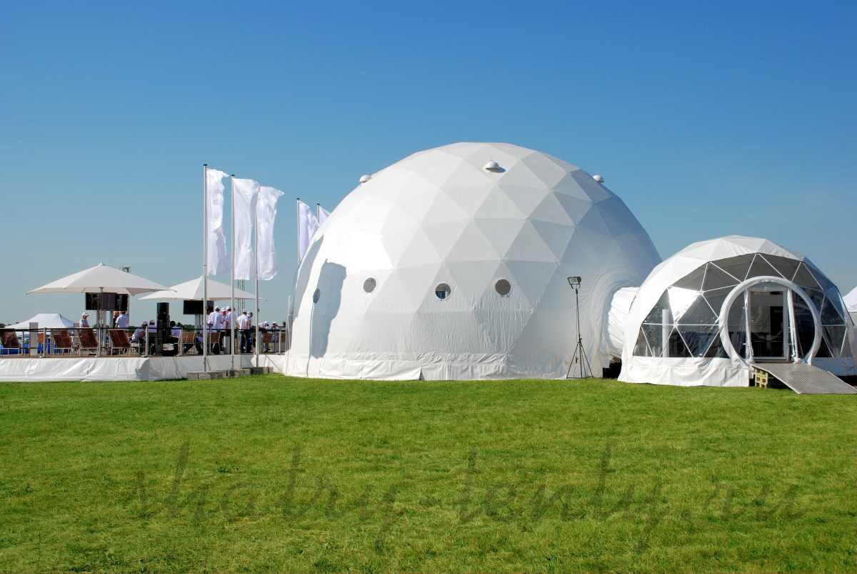 Ресторан в купольном сферическом шатре