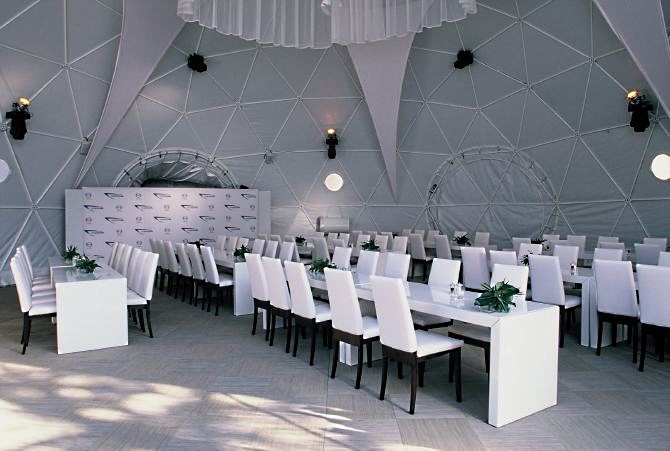 Купольный сферический шатер для свадьбы