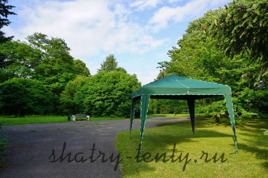 Квадратный шатер навес 3*3 для дачи