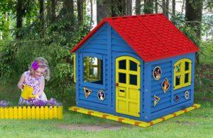 красно-синий детский домик компании МигМак, Россия