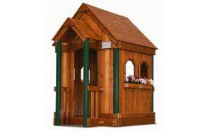 деревянный детский домик из секвойи компании Rainbow, США
