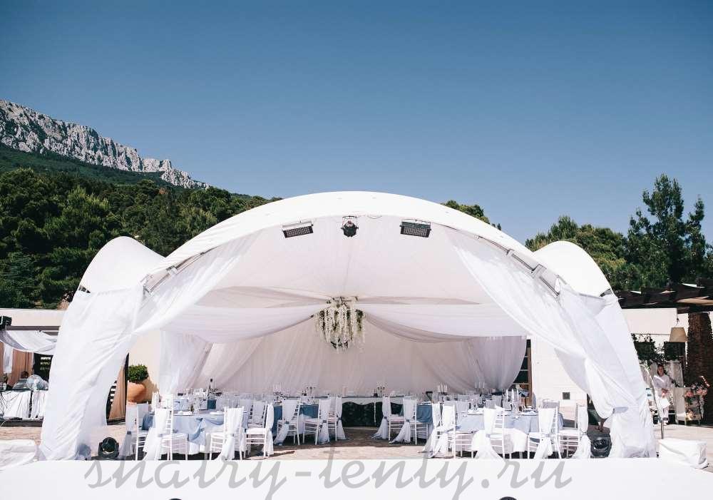 открытый арочный шатер для свадьбы