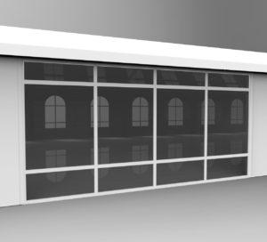 Стена с окном из монолитного поликарбоната Factory Tents