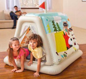 """детская надувная палатка для кемпинга """"По следам животных"""" компании INTEX, Китай"""