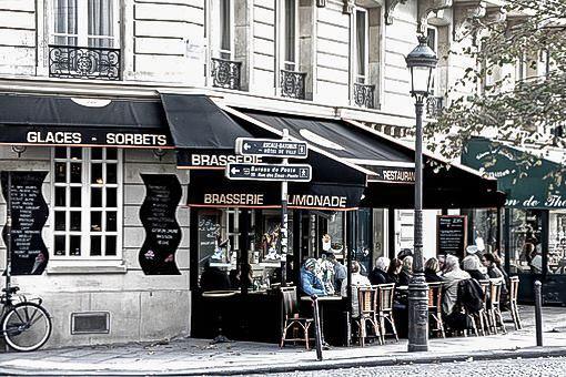 ресторан под маркизой в Париже