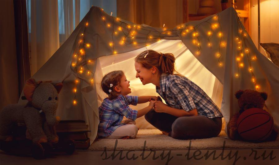 samodelnyj-detskij-shater Как выбрать шатер, домик или палатку для ребенка до 10 лет?