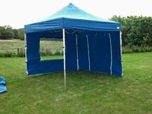 Квадратный мобильный шатер с двумя стенками