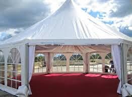 шатер с прозрачными стенами из ПВХ