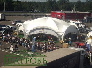 Арочный шатер Гексагональ, 20Х17М , компании ШАТРОВЪ