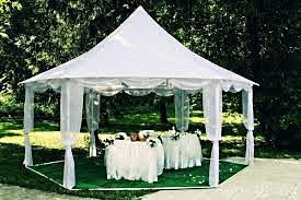 шестигранный шатер для свадьбы