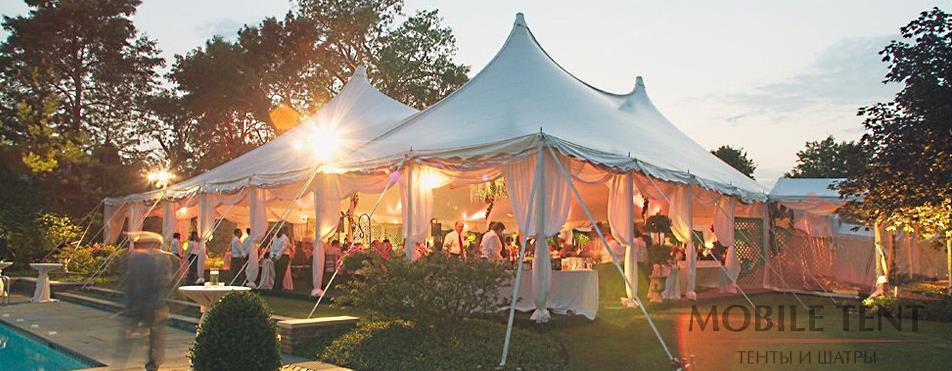 Свадьба в шатре Пагода Стандарт 5х5, компании «MOBILE TENT»