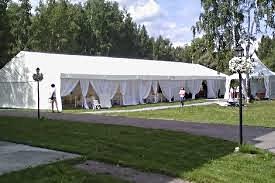 свадьба в двухскатном шатре тенте