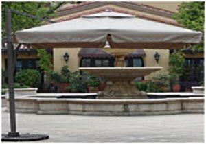 зонт компании De Luxe вид сбоку