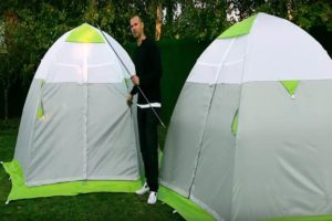 Зимняя палатка ЛОТОС 3С на стеклокомпозитном каркасе