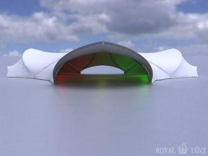 Четырех лучевой каскадный шатер CASCADE RT18X30 РОЯЛТЕНТ