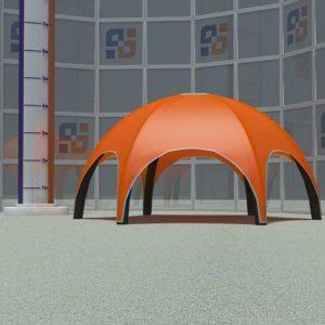 Оранжевый надувной шатер Квадрошоу