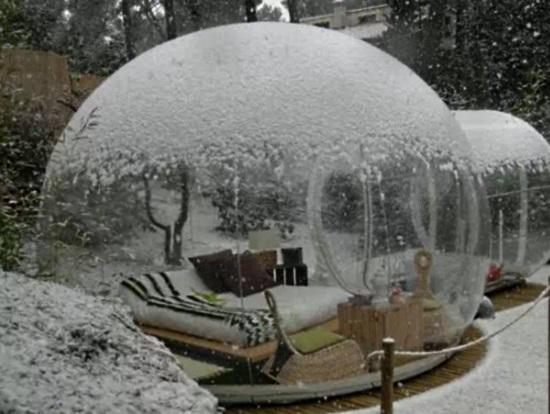 Надувной кемпинговый прозрачный шатер-пузырь