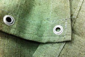 Зеленый полог брезентовый ВО 10х12м с люверсами