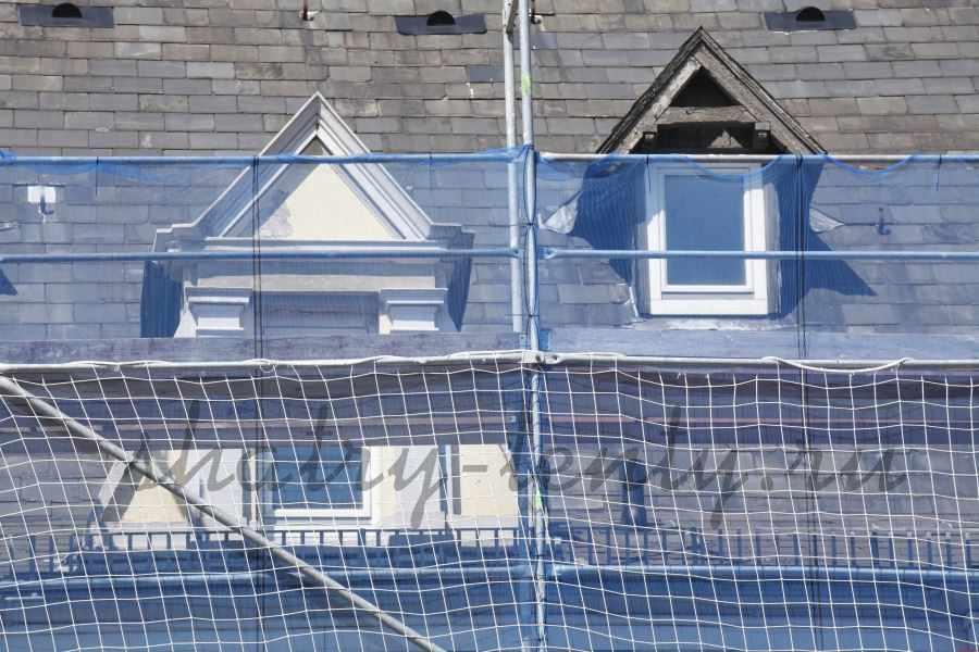 Прозрачный армированный строительный тент с ПВХ-покрытием