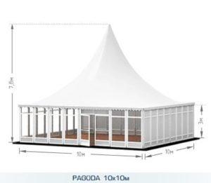 Шатер-павильон «Пагода» 10 Х10 М, компания А-ТЕНТ