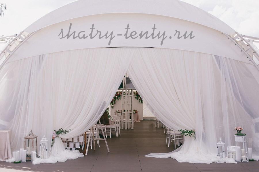 Арочный шатер для мероприятий