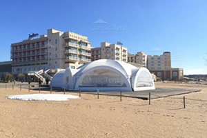 Арочный шатер Гексагональ 13х15 на песочном пляже