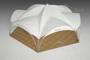 Арочный шатер Гексагональ 13х15,, Классик тент, Россия, схема