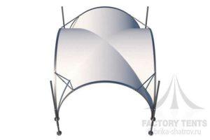 Арочный шатер 3,5Х3,5м, компания Фабрика шатров, Россия