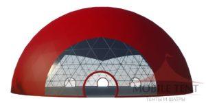 Большой сферический шатер MOBILETENT 35Х35 М