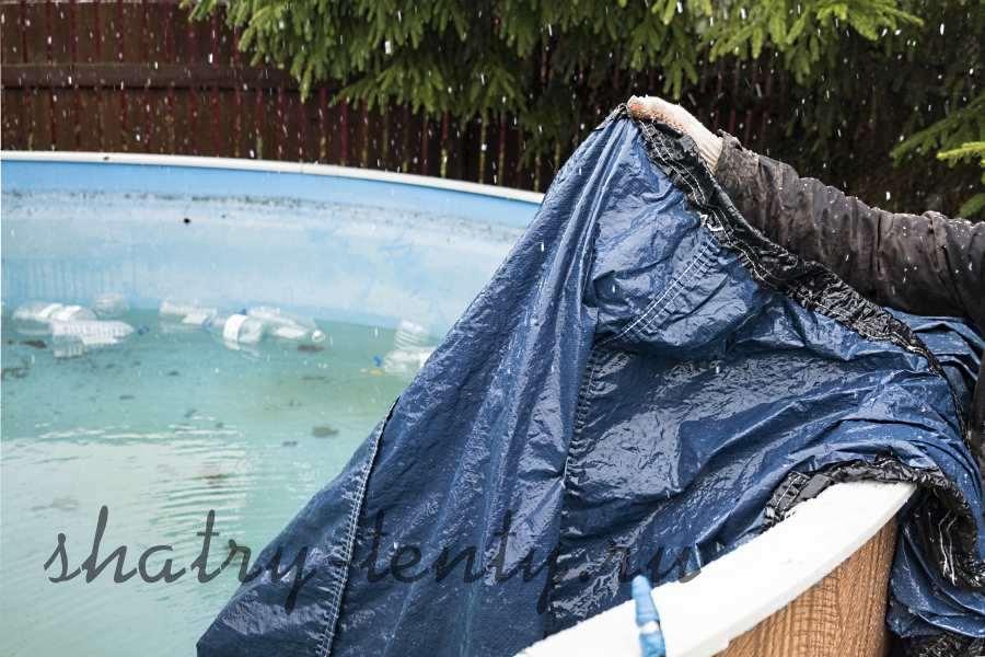 Брезентовое покрывало для бассейна