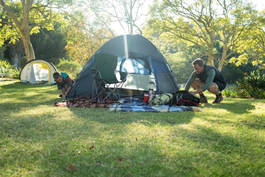 Установка быстрособираемого шатра для кемпинга