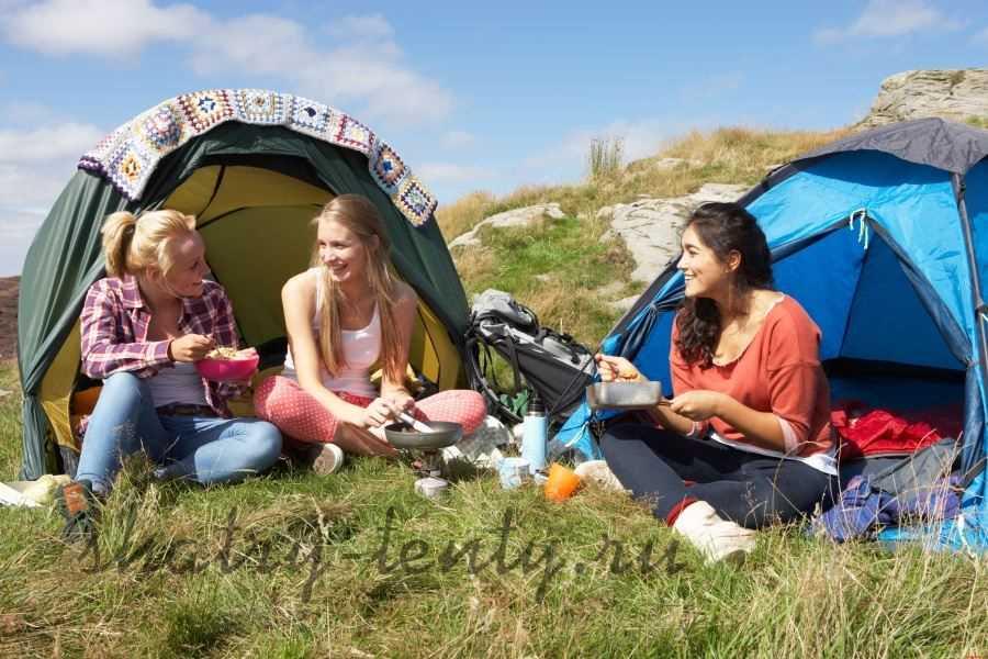 Девичник в шатрах-палатках на природе