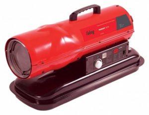 Красная тепловая пушка с ручкой держателем