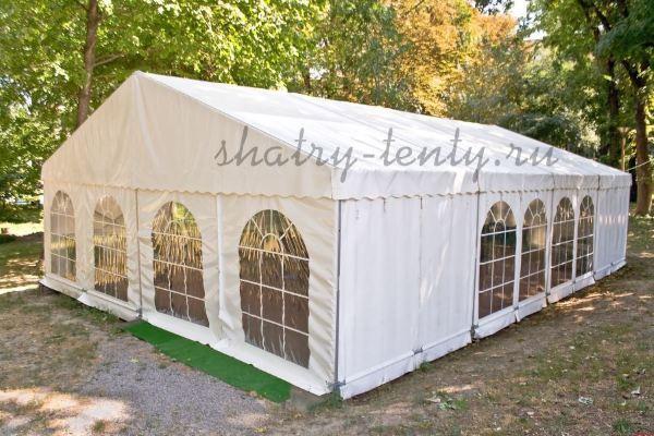 Двускатный мобильный шатер для мероприятий на природе